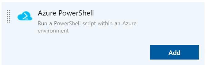 Azure PowerShell  Run a PowerShell script within an Azure  environment  Add